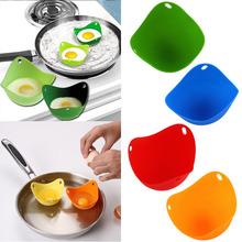 Free Shipping! 1pc high quality Silicone Egg Poacher Cook Poach Pods Kitchen Cookware Poached Baking Cup