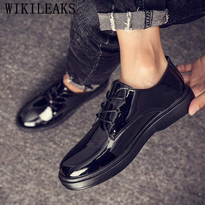 2019 Luxus Brang Herren Kleid Schuhe Formale Schuhe Männer Plattform Oxford Schuhe Für Männer Zapatos De Hombre Zapatos De Hombre De Vestir Klar Und Unverwechselbar