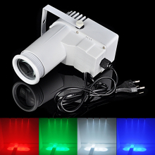 New 9W RGB LED Pinspot Pin Spot Beam Light Stage Lights 7 Color Changing KTV DJ Party Effect LED Light