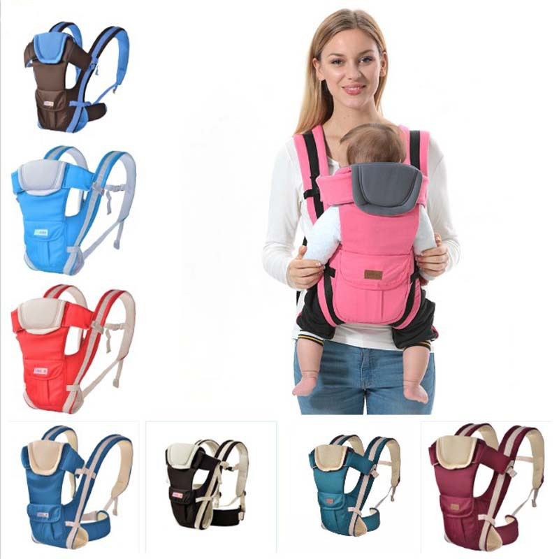 Breathable Front Facing Baby Carrier 4 in 1 Infant Comfortable Sling Backpack Pouch 0- Wrap Baby New baby carrier 30 Months free shipping 4 in 1 soft structured baby carrier 15 colors baby carrier 15 kinds baby sling baby pouch
