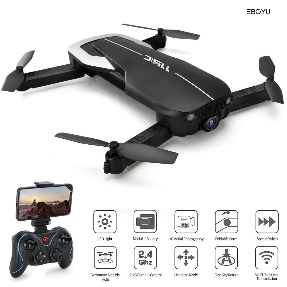 JJRC H71 Foldable RC Drone 1080P Wide Angle WiFi FPV HD Camera Auto-Follow Optical Flow Positioning Altitude Hold RC Quadcopter