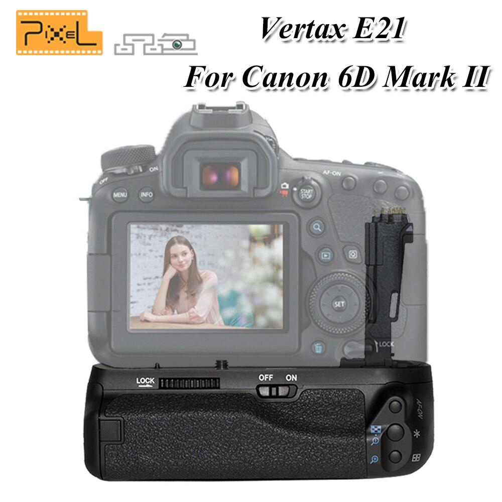 PIXEL Travail Avec LP-E6/LP-E6N Batterie BG-E21 E21 Batterie Grip Poignée Pour Canon EOS 6DII 6 3dmark II Numérique Appareil Photo REFLEX