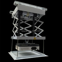 Remote Control 20kg Carry Weight Electric Projector Lift Ceiling Mount For LED LCD DLP Beamer Roof Bracket