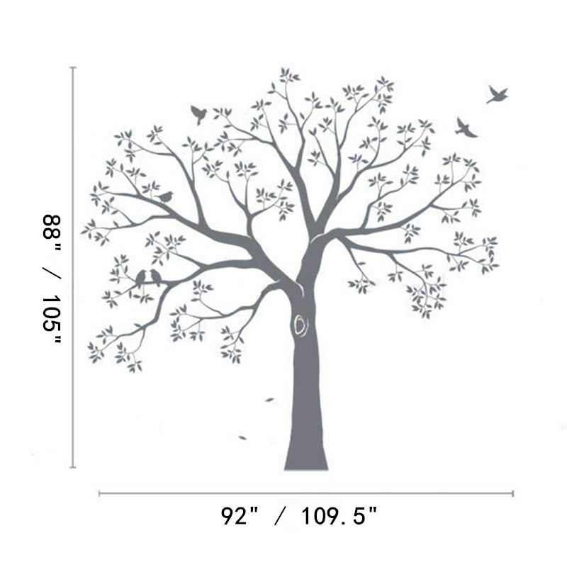... Huge Family Tree Wall Decal Vinyl Stickers Decor, Staircase Family Tree  Decal, Tree Wall ... Part 94