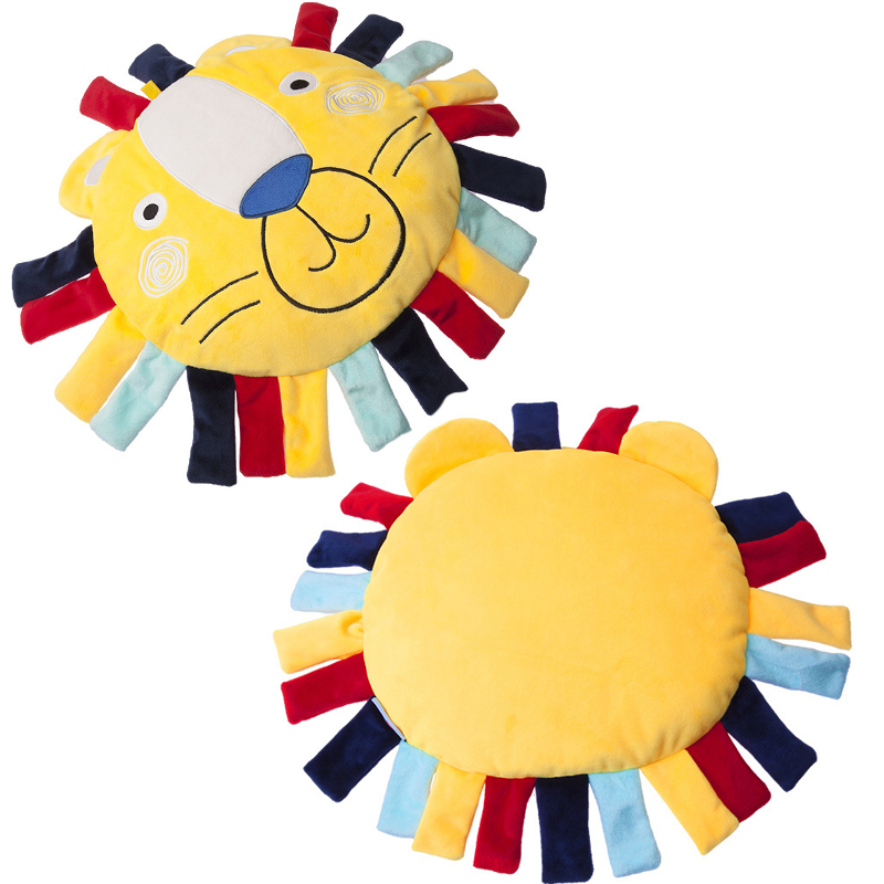 Baby Plush Toy Pillow Cartoon Stuffed Plush Animal Lion Sleeping Comfort Soft Pillow Funny Toy Gift Baby Popular Toys