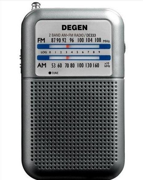 Degen DE333 FM AM радиоприемник мини ручка портативный аналоговый мини карманные две полосы радио 2 группы