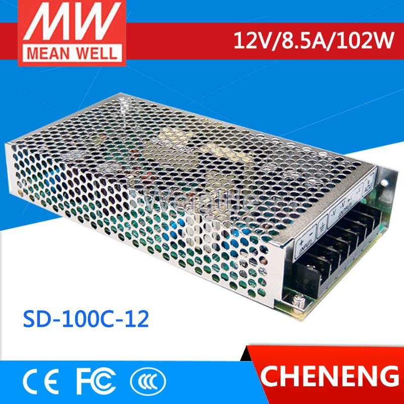 цена на MEAN WELL original SD-100C-12 12V 8.5A meanwell SD-100 12V 102W Single Output DC-DC Converter