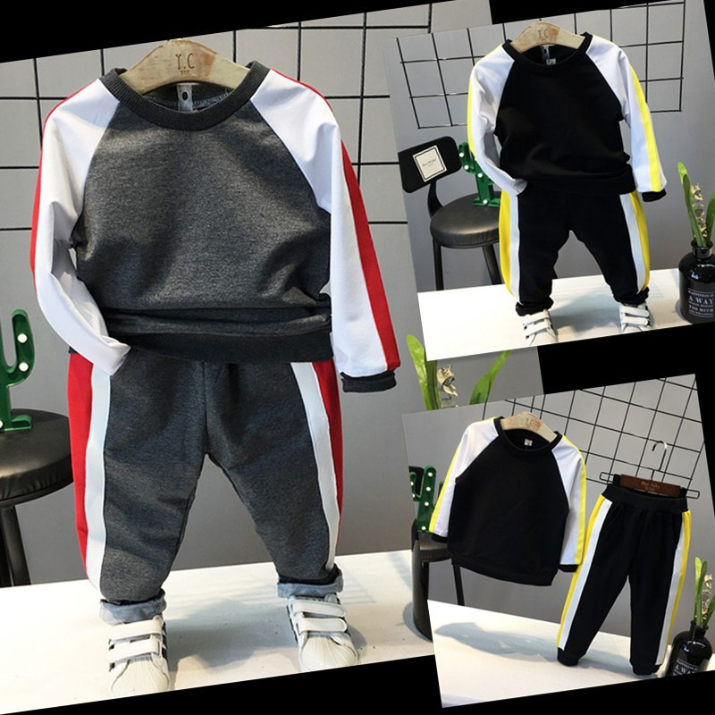 2018 Spring Autumn New Boy Sports Fashion Leisure Two-piece Sports Suit
