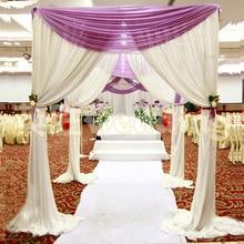 Wholesale wedding arch square pavilion backdrop curtains wedding decoration backdrops square canopy