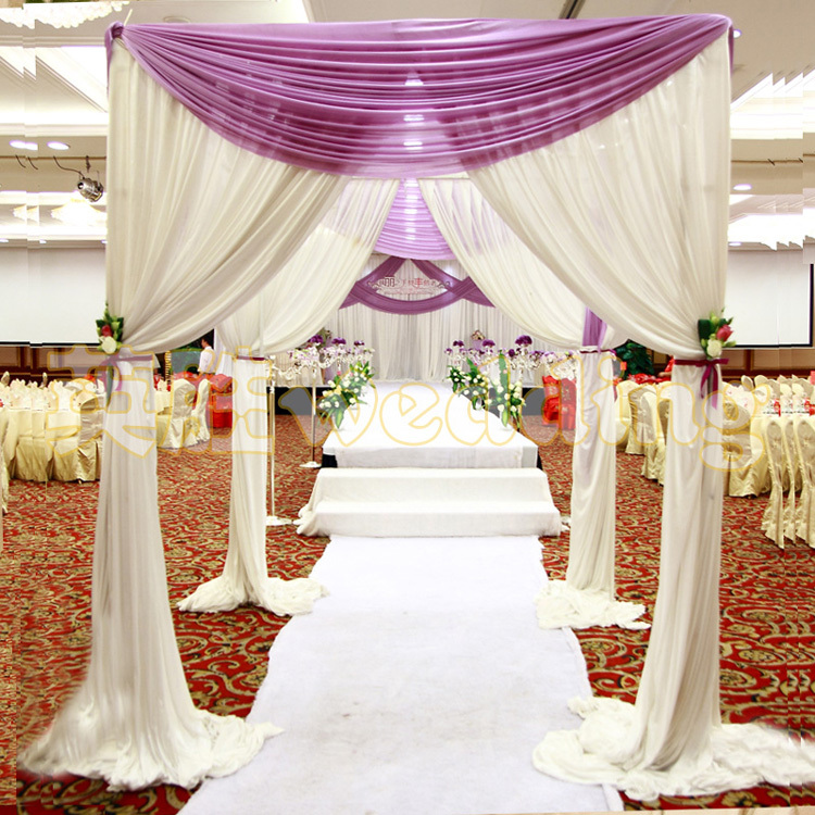 Wholesale Wedding Arch Square Pavilion Backdrop Curtains Wedding