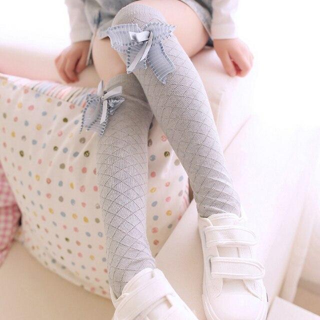 85c9e4b85cb Fashion Kid Winter Over Knee Socks Warm Thigh High Long knit Cotton  Stockings For Girls Princess