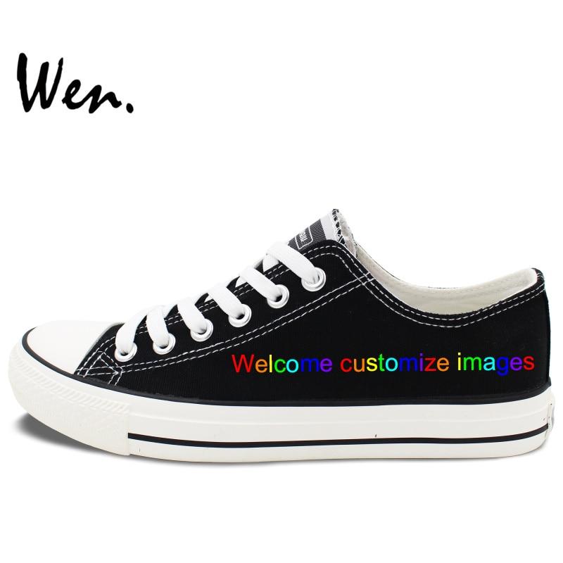 Wen Toile Chaussures Personnaliser Chaussures Peintes à la