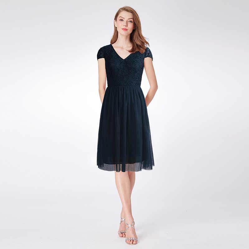 7ddfdc730e1fd80 Бальные платья 2018 Женская мода A-Line Элегантные рукава с v-образным  вырезом Тюль