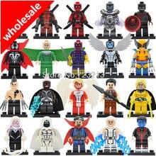 Atacado 20 pcs Super Herói Figura Deadpool Wolverine Magneto Daken Anjo Doutor Estranho Building Blocks Set Toy Modelo