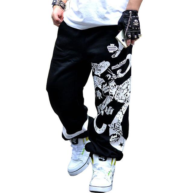 2017 nueva spring street pantalones deportivos hombres de hip hop de impresión de algodón pantalones basculador diseñador hombres
