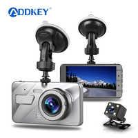 """ADDKEY Dash Cam Dual Objektiv Auto DVR Fahrzeug Kamera Volle HD 1080P 4 """"IPS Vorne + Hinten Nacht vision Video Recorder G-sensor dash cam"""