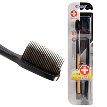 Charcoal Nano Black Bamboo Toothbrush Kids 2pc/Pack Travel Brosse a Dents Ultra Soft Toothbrush Wholesale Tooth Brush for Adults