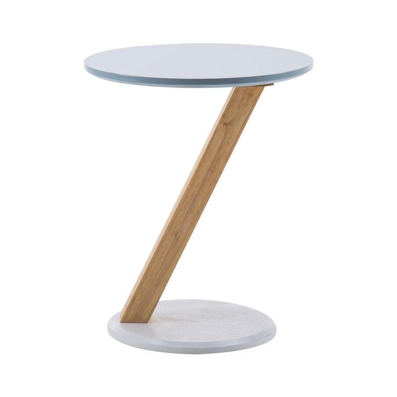Mode nordique table basse ronde personnalité créative en bois en forme de Z petite table basse pour balcon salon café mx6241601