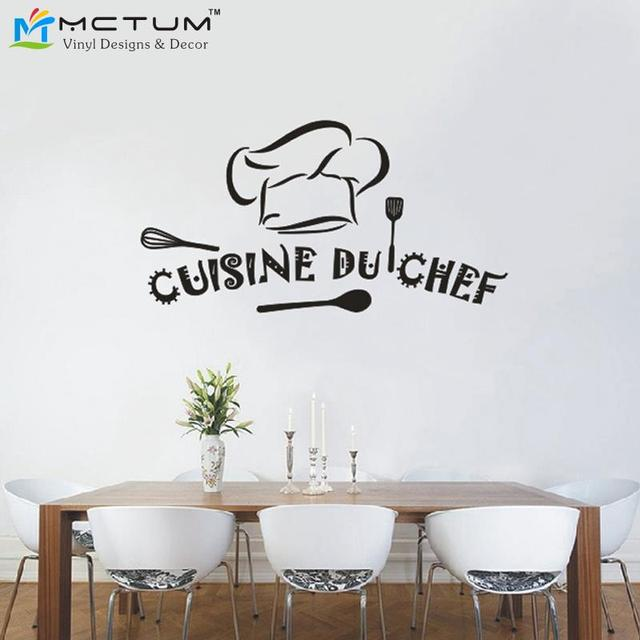 buy stickers cuisine du chef french vinyl wall stickers wallpaper sticker mural. Black Bedroom Furniture Sets. Home Design Ideas
