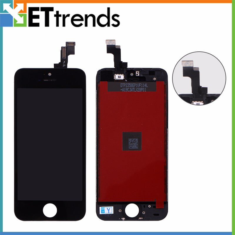 1 Piece 100 Original Lcd Refurbished A For iPhone 5S LCD Screen Touch Digitizer Full Assembly