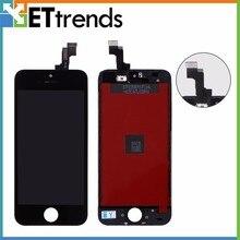 1 шт. 100% Оригинальный ЖК-дисплей Восстановленный A + для iPhone 5S ЖК-экран сенсорный дигитайзер полная сборка один на один протестированный DHL Бесплатная доставка