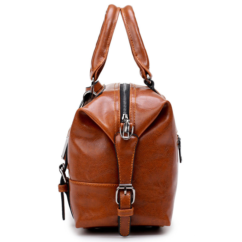 2008 New Oil Wax Woman Soft Leather Hand Shoulder European and American Fashion Slant bag in Shoulder Bags from Luggage Bags
