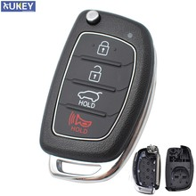 Car Remote Key Shell Case For Hyundai Santa fe Sonata Tucson i40 ix45 Replacement Case 4 Button with Uncut Blade 2013 - 2019(China)