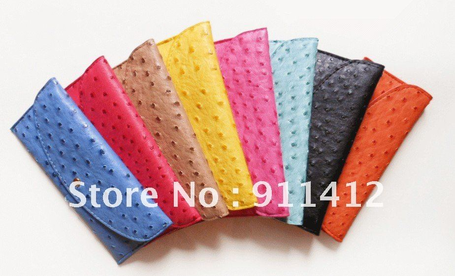 Fashion women PU wallet , card bags,many colors ultrathin Ostrich grain purse