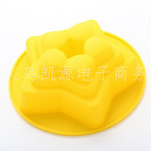 Five pointed stars hollow pan cake mold silicone mould DIY core pulling