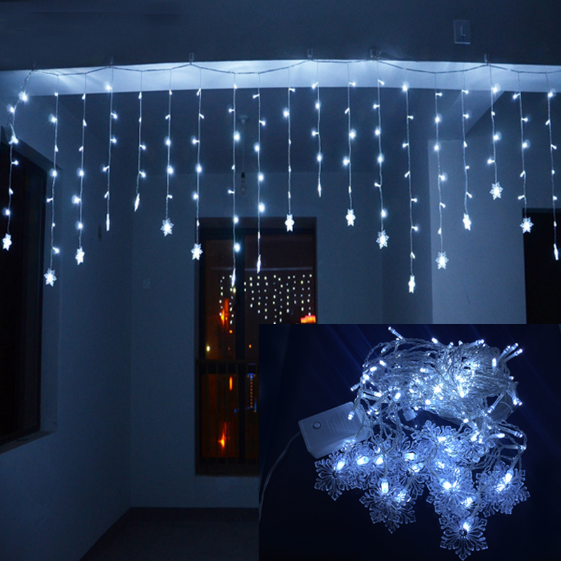 Holiday Lighting 4Mx0.6M Snowflake Xmas Party Fairy Colorful Garland LED Christmas Decoration ...