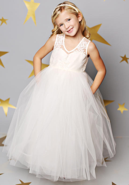 Lace Flower Girls Dresses For Wedding Gowns Tulle Glitz Pageant Dresses for Little Girls White A-Line Mother Daughter Dresses long flower girls dresses for wedding gowns ankle length kids prom dresses lace glitz pageant dresses for little girls