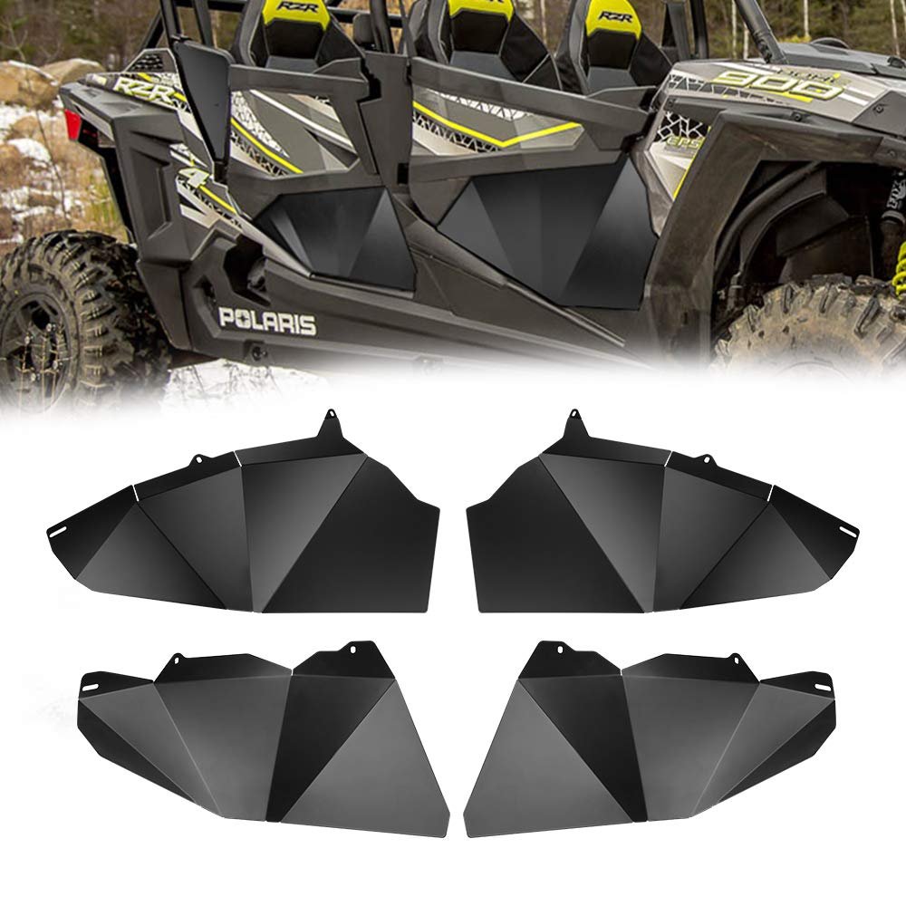 Four Lower Doors Insert Panels Kit With Small Triangles For Polaris RZR XP 1000-4 900-4 Turbo 4 Doors 2014-2019 2016 2017 2015