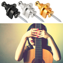 1pc Round Head Strap Lock Pins Screw for Electric Acoustic Bass Guitar free shipping