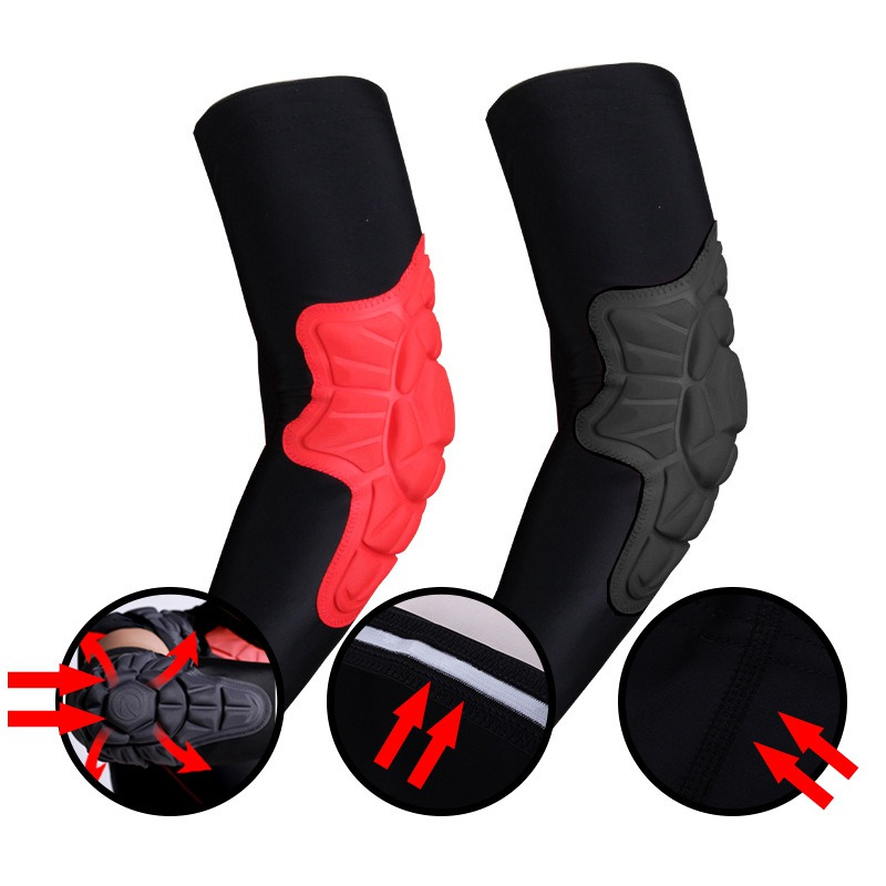 Breathable Elbow Brace Pads Guard Compression Padded Arm Support Sleeve Protector For Skateboarding Basketball Football