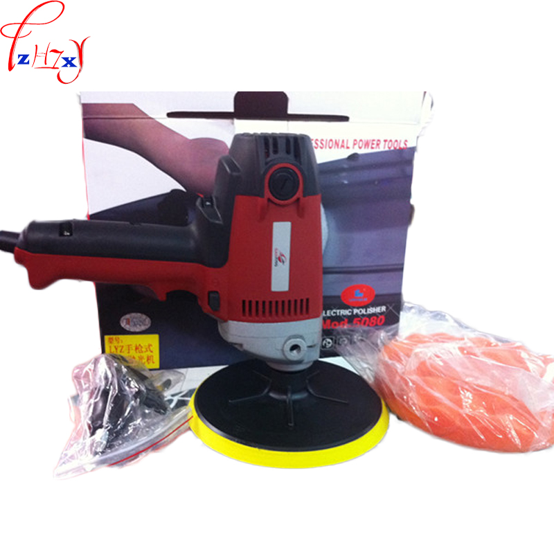 Vertical electric adjust speed car polishing machine LYZ5080 hand-held automotive beauty waxing machine 220V 900W 1PC high quality 220v electric wire drawing machine drawbench portable polishing machine for stainless steel mirror polishing treatm