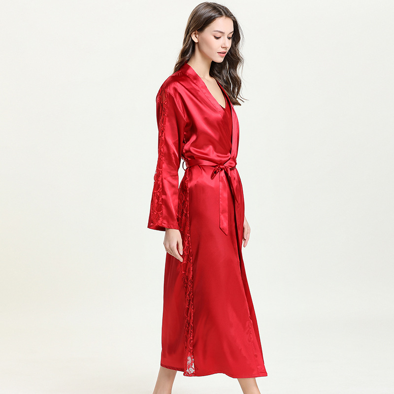 Image 2 - Bathrobe Kimono Sexy Bride Kimono Sleepwear for summer and spring 9676-in Robes from Underwear & Sleepwears