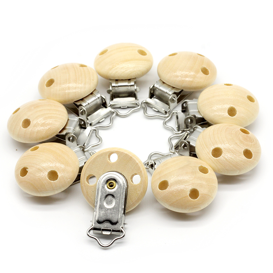 10pcs Wooden Teether Dummy Clip (2.9*4.6 cm) Baby Nursing Accessories DIY Pacifier Holder Can Chew Clips Baby Teether let s make baby teether wood animal rattle organic teether jungle toy wooden waldorf toys diy accessories can chew baby teether