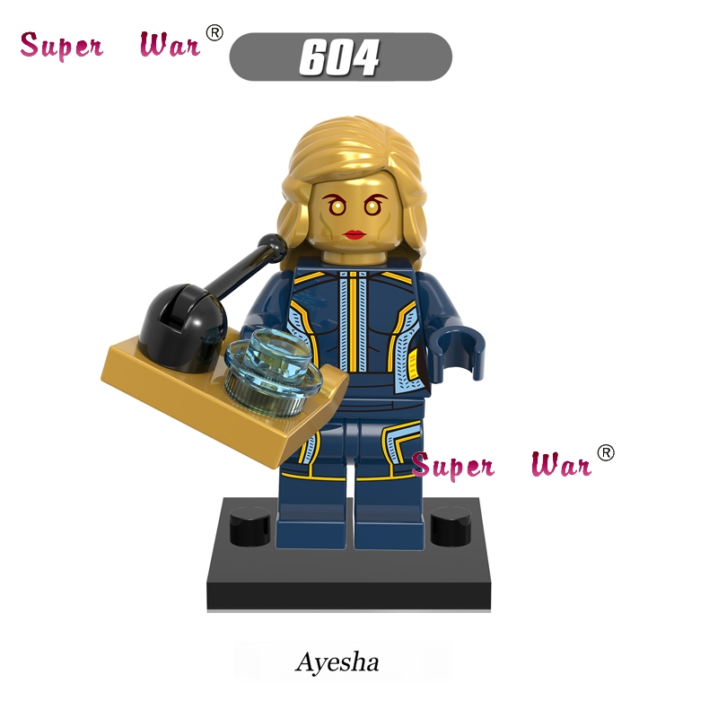 20pcs Guardians of the Galaxy Ayesha al-Gaddafi building blocks figure brick model Collection educational classic baby toy