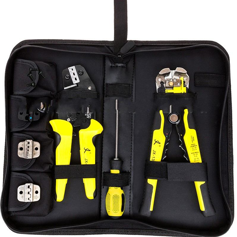 4 In 1 Wire Crimper Tools Kit Engineering Ratcheting Terminal Crimping Pliers Wire Crimper + Wire Stripper+ S2 Screwdiver  цены
