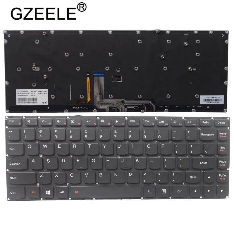 GZEELE New For Lenovo Yoga 4 Pro Yoga 900-13ISK 900-13ISK2 Keyboard US Backlit Laptop English Keyboard Backlight PK130YV2