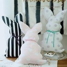 55*30cm Japanese soft sister plush pillow cute rabbit ribbon cushion wave rabbit plush toy for baby gifts 55 30cm japanese soft sister plush pillow cute rabbit ribbon cushion wave rabbit plush toy for baby gifts