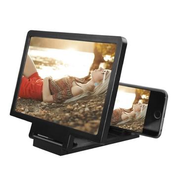 Whosale wzmacniacz ekranu 3D telefon komórkowy lupa HD stojak na wideo składany ekran powiększone oczy uchwyt ochronny tanie i dobre opinie Balight Stojący Styl Brak 3D Magnifier Z tworzywa sztucznego Dropshipping csv file