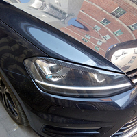 Carmonsons фары для бровей Веки ABS углеродного волокна стикер для Volkswagen VW Golf 7 MK7 Rline GTI R аксессуары для автомобиля Стайлинг