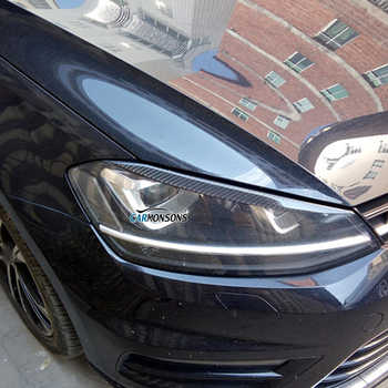 Carmonsons Headlights Eyebrow Eyelids ABS Carbon Fiber Sticker for Volkswagen VW Golf 7 MK7 Rline GTI R Accessories Car Styling - DISCOUNT ITEM  10% OFF All Category