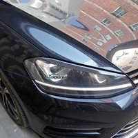 Carmonsons phares sourcils paupières ABS fibre de carbone autocollant pour Volkswagen VW Golf 7 MK7 Rline GTI R accessoires voiture style