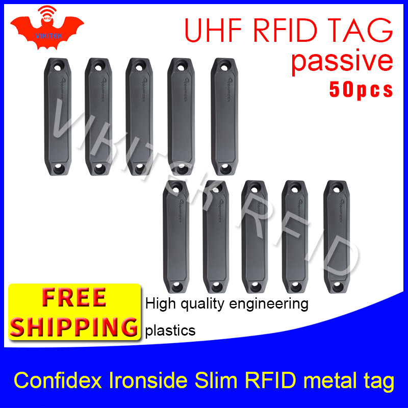 UHF RFID anti-metal tag confidex ironside slim 915m 868m Impinj Monza4QT 50pcs free shipping durable ABS smart passive RFID tags free shipping 50pcs mje15033g 50pcs mje15032g mje15033 mje15032 to 220