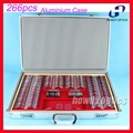 266 PCS Optical Ophthalmic Trial Lens Set Trial case Shiny Metal Rim Aluminium case Lens Dia.36.5mm