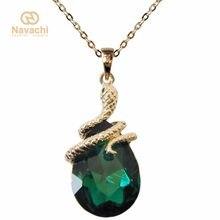Navachi encaracolado cobra colorido cristal zircão cúbico pingente colar frete grátis smta6003