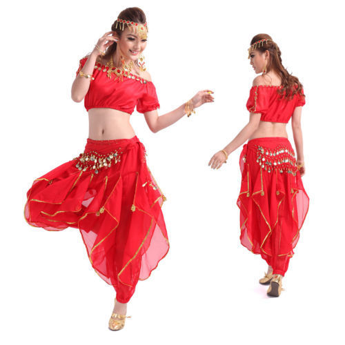 US $25 86 |2016 New Arrival Belly Dance Costumes Bollywood Indian Dancewear  3PCS Top&Pant&Belt Plus Size Bellydance Clothes Belli Dancer-in Belly