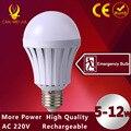 1 pcs Led E27 5 W Recarregável Lâmpada LED lâmpada de Luz 12 W de Emergência 7 W Led Lanterna Com Bateria Lâmpadas LED 9 W SMD 5730 LEDs